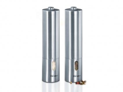 Elektrische Pfeffermühle und Salzmühle mit LED, Gewürzmühlen Set Salz Pfeffer