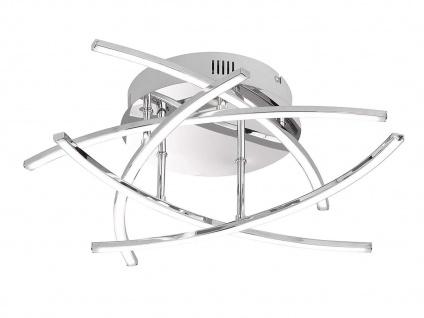 Dimmbare 5-flammige LED Deckenleuchte in Chrom Ø 50 cm Deckenlampen Design