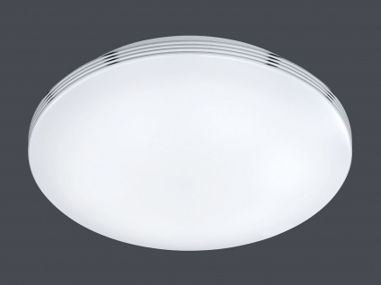 LED Deckenleuchte Badezimmerlampe APART Chrom Acryl weiß Ø 35 cm - Vorschau 3