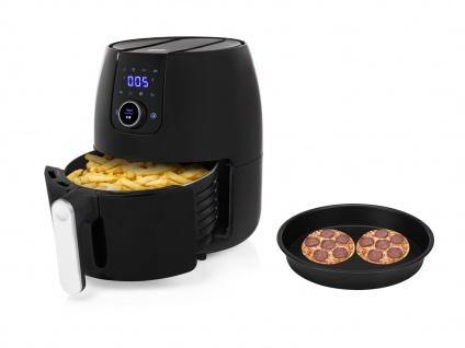 Digitale 2in1 XXL Heißluftfritteuse 4, 5L mit Pizzapfanne - Frittieren ohne Öl