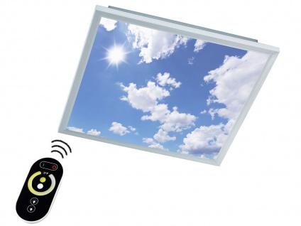 LED Paneel / Deckenleuchte 60x60 cm, dimmbar mit Fernbedienung, Himmel Optik
