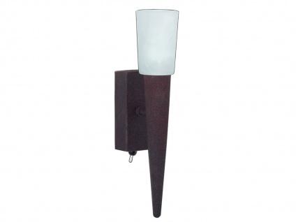 TRIO Wandleuchte, ink. 1 x G9/28W, mit Schalter, Höhe 27cm Rostfarbig