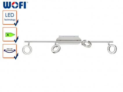 4-flammige LED Deckenleuchte, Spots schwenkbar, Strahler Deckenstrahler Balken