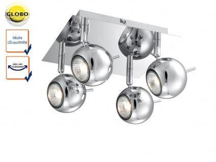 LED Deckenstrahler OBERON 4 flammig, Deckenleuchte Deckenlampe Spots schwenkbar