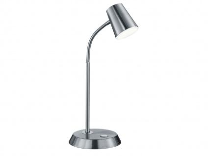 Flexible LED Schreibtischlampe Nickel matt Höhe 38cm - Leselampe Arbeitsleuchte