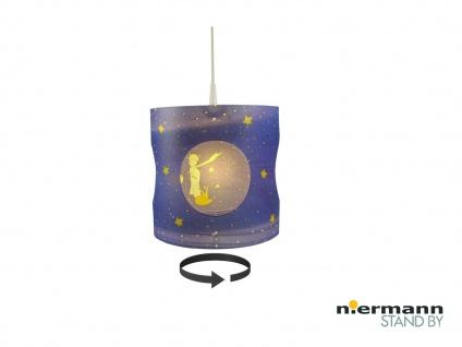 Kinder Pendelleuchte drehend Lampenschirm Motiv KLEINER PRINZ Kinderzimmerlampe