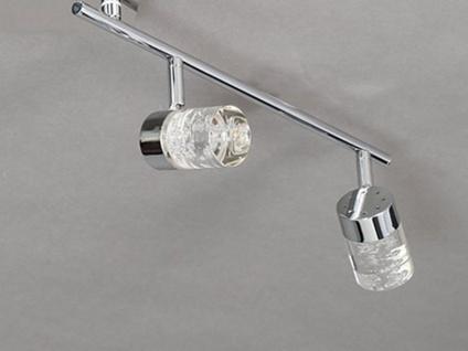 LED Deckenleuchte schwenkbar, Chrom / Acrylglas, Wofi-Leuchten - Vorschau 3