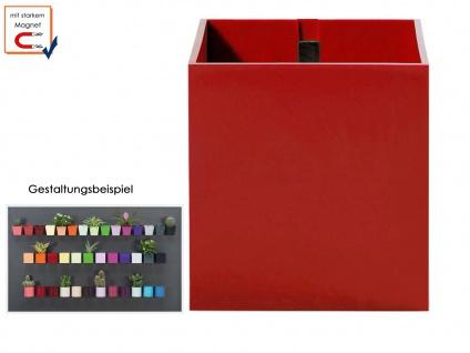 Kunststofftopf mit Magnet Ø 6 cm Rot, Wandaufbewahrung Wanddeko, KalaMitica