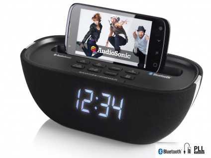 Tristar Uhrenradio Bluetooth, USB-Anschluss, PLL-Tuning, Snooze-Funktion