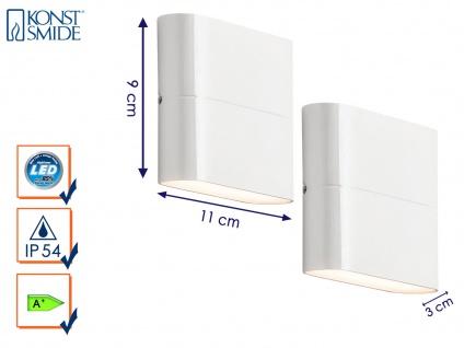 2er-Set Up-/Down Außenwandleuchten Wandleuchten CHIERI weiß 6 Watt-LED 450 Lm - Vorschau 1