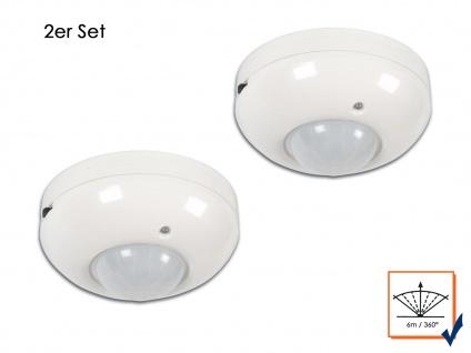 2er Set PIR Decken Bewegungsmelder 6m/360°, 1200W, Bewegungssensor PIR Sensor