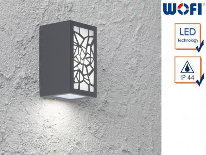 LED Außenwandleuchte Aluminium eckig 7W Wandleuchte außen Fassadenbeleuchtung