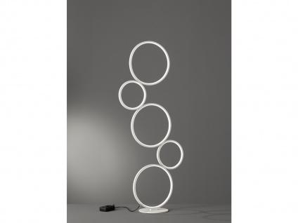 LED Stehlampe Ringleuchte für Wohnzimmer, Schlafzimmer, Flurlampen Galerie weiß