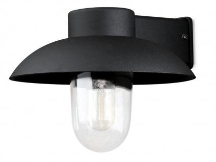 Außenleuchte, Aluminium Außenwandleuchte schwarz, E27, Glas klar, Konstsmide