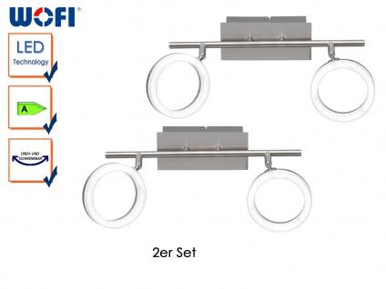 2er Set LED Deckenlampe SCARLETT, L. 36, 5cm, Nickel matt, Deckenleuchte Spots