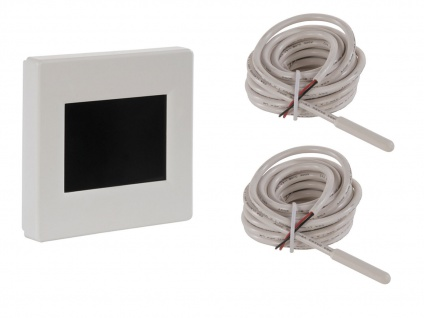 Vitalheizung Display Thermostat mit 2x Bodensensor Fühler, Raumthermostat Kombi
