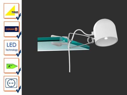 Trio Quidam Wandleuchte/ Klemmleuchte weiß SMD 4, 5W LED Touchfunktion