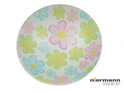 Deckenschale rund Ø 45cm mit fröhlichen Blumen Motiv Deckenleuchte Kinderzimmer