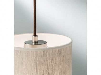 Schöne Pendelleuchte einflammig Holz Eicheoptik mit Lampenschirm aus Leinenstoff - Vorschau 4