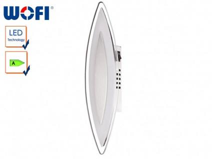 LED-Wandleuchte, satinierte Glasblende, Schalter, Wofi-Leuchten
