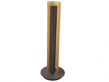 Design LED Nachttischleuchte 13W H. 47, 5cm Antik Braun/Messing gefärbt Flurlampe