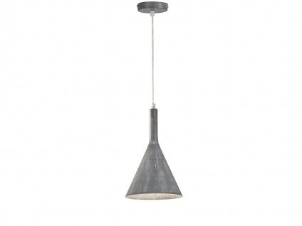 Dimmbare LED Pendelleuchte 18, 5cm in Grau, Hängelampe für Küche Esszimmer, grau