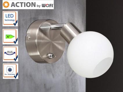 LED Wandleuchte / Wandspot schwenkbar, Schalter, Action by Wofi