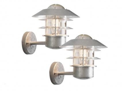 2er-Set Wandleuchten MODENA galvanisierter Stahl, E27, Höhe 24 cm