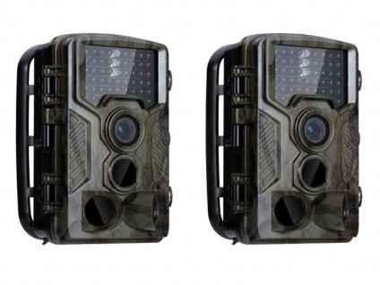 Wildkamera Überwachungskameraset mit Nachtsicht & Full HD, Jagdkameras Fotofalle