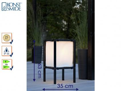 Gartenbeleuchtung, Terrassenleuchte Höhe 63 cm, schwarz, Stoffplane, Konstsmide