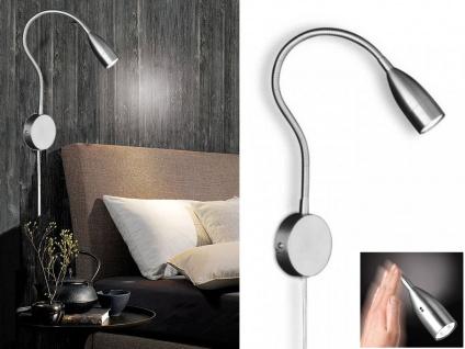 LED Schwanenhals Leselampe dimmbar - Leselicht Wandmontage Schlafzimmer Wohnraum
