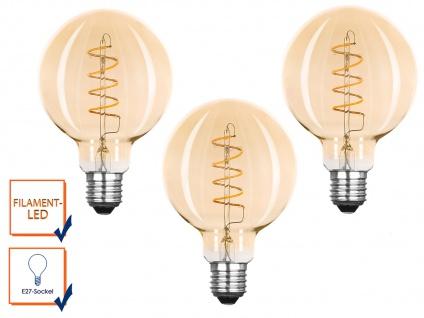 2 Stk LED Leuchtmittel G95 Globe 3 Watt 150 Lumen 2000K, E27-Sockel Filament LED