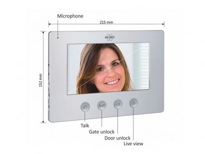 Zusatz Inneneinheit mit 7 Zoll Farbmonitor für ELRO Videotürsprechanlagen DV477W