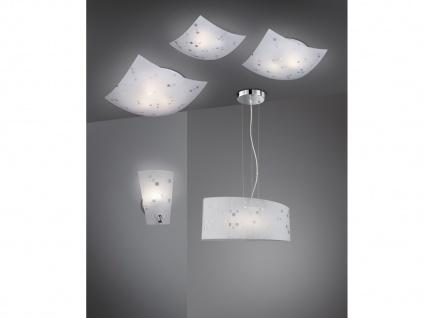 Eckige Deckenlampe 40x40cm, Glasschirm satiniert in weiß, dezent grau gemustert - Vorschau 5