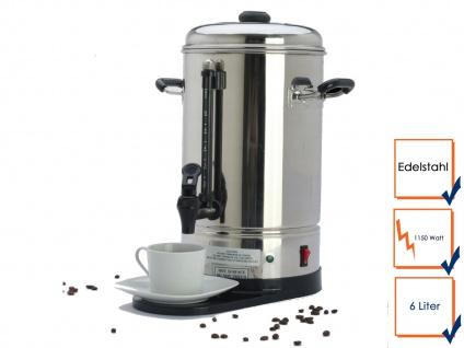 Gastro Kaffeemaschine Kaffeebereiter, 6 Liter, 1150 W, Kaffeeautomat Rundfilter