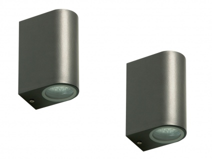 2er Set Ranex LED-Außenwandleuchte Bastia Alu anthr., up/down-light