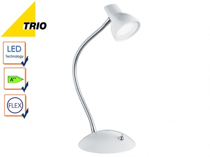LED Tischleuchte Schreibtischlampe Lampe KOLIBIR weiß Höhe bis 35 cm