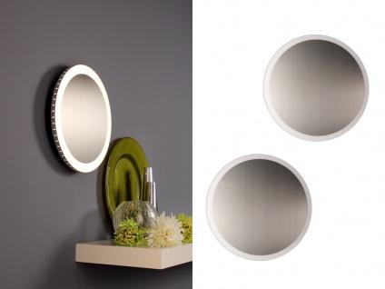 Angesagte LED Innenlampe für Wand und Decke mit Spiegel Design Silber rund 30cm