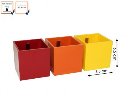 Wanddeko 3er-Set Kunststofftopf mit Magnet Ø 6 cm, Wandaufbewahrung, KalaMitica