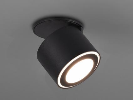 Kleiner LED Deckenstrahler Schwarz schwenkbare Deckenlampen für Flur und Diele