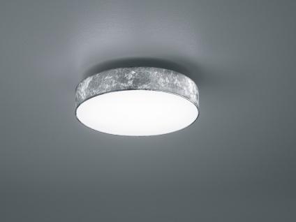 2er Set Trio LED Deckenlampe LUGANO 30cm Stoff silberfarben, Lampe Wohnraum Flur - Vorschau 3