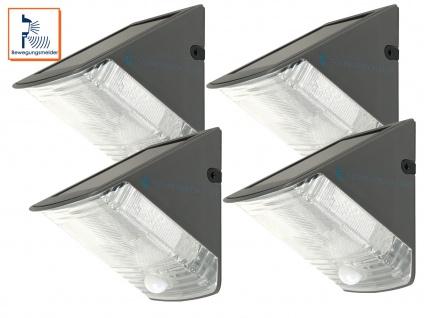 4er-Set LED Solarleuchte mit 100° Bewegungsmelder, max. 8m