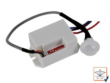 Mini PIR Bewegungsmelder 100°/8m, 12Vdc, Einbau Bewegungssensor PIR Sensor