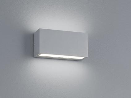 Up- & Downbeleuchtung - LED Wandleuchte aus titanfarbigem Aluminiumguss, IP65