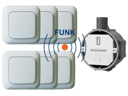 Funk Schalter Set = Funk-Einbauschalter + 6 x Funk-Wandschalter Fernbedienung