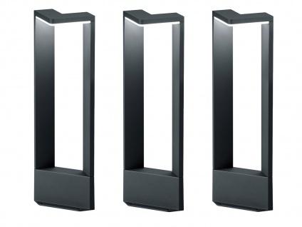 LED Sockelleuchten in Anthrazit 50cm - 3er Set Wegeleuchten Terrassenbeleuchtung - Vorschau 2