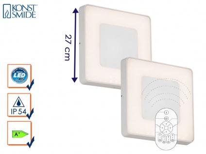 2er-Set LED Wandleuchten / Deckenleuchten CARRARA eckig inkl. Fernbedienung, 25W