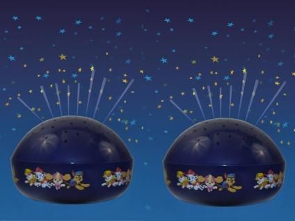 2er SET ED Nachtlicht Baby Sterneprojektor PAW PATROL Farbwechsler Sternenhimmel