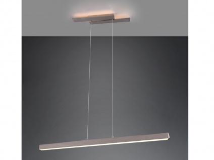 LED Pendelleuchte Silber mit 3 Stufen Dimmer schmale Lampen für über Esstisch