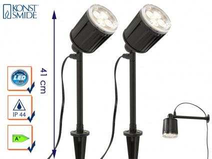 2er-Set LED-Stableuchten Erdspießleuchten Gartenspot Gartenstrahler Spot AMALFI